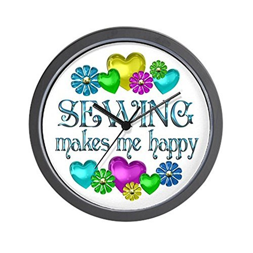 CafePress - Sewing Happiness - Wall Clock by CafePress