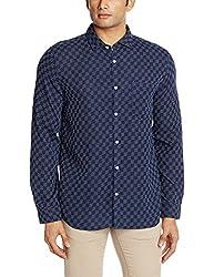 Ruggers Men's Casual Shirt (8907242820507_267797207_Medium_Navy)