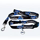 Seattle Seahawks Dog Pet Set Leash Collar ID Tag XS at Amazon.com