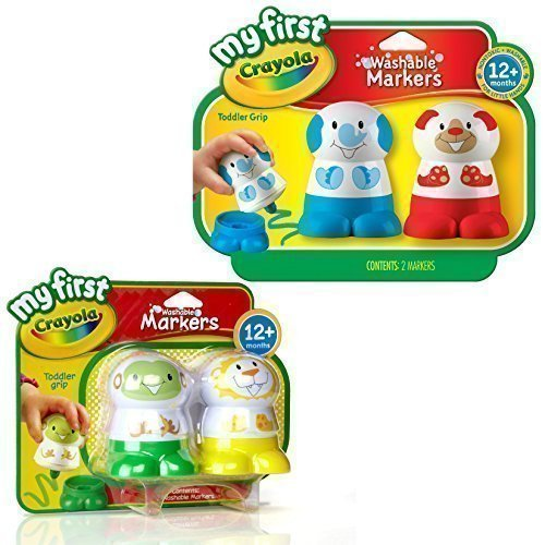 Crayola Washable Markers - 4 Pack. My First Crayola Toddler Toys!