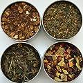 Heavenly Tea Leaves Afternoon Tea Sampler - 4 Bestselling Cans - Approximately 25 Servings of Tea Per Can by Heavenly Tea