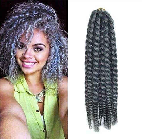 12 Grey Color Crochet Braid Hair Extensions Hair Braids Import