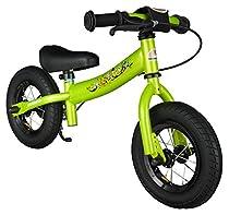 Bikestar 10 inch (25.4cm) Kids Balance Bike / Kids Running Bike - Sport - Green