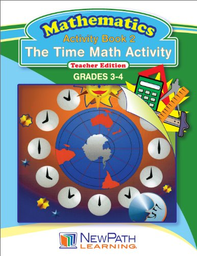 NewPath Learning The Time Math Activity Reproducible Workbook, Grade 3-4