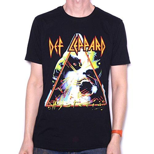 Old Skool Hoooligans Black Def Leppard T Shirt - Hysteria 100% Official