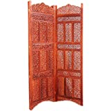 Aarsun: Hand Carved Sheesham Wood Partition Screen / Room Divider 124