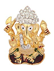 Vama Collections One Gram Gold Plated Ganesh Ganesha Pendant With Cubic Zirconia Diamond For Men Women Children...