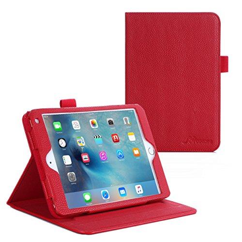 iPad Mini 4 Case, roocase Dual View Pro iPad Mini 4 Multi-Viewing Stand Folio Case Smart Cover for Apple iPad Mini 3 (2015), Red (Mini Dv Case compare prices)