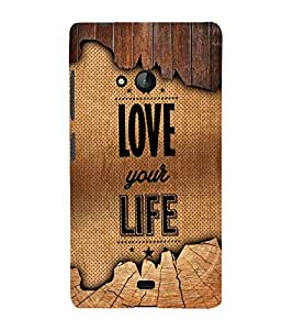 Love Your Life 3D Hard Polycarbonate Designer Back Case Cover for Lumia Lumia 540 :: Microsoft Lumia 540