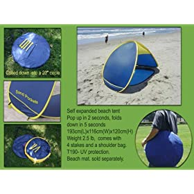 Pop up Beach tent, beach sun shelter