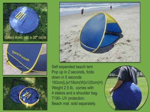 Genji Sports Pop Up Beach Tent Sun Shelter, Outdoor Stuffs