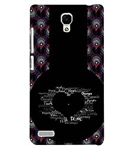 Fuson 3D Printed Love Designer back case cover for Xiaomi Redmi Note - D4618