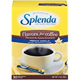 Splenda No Calorie Sweetener, Flavors for Coffee, French Vanilla, 30 Count (Pack of 6) net wt. 6.6oz
