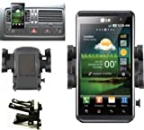 Mobilizers: In Car Air Vent Mount Holder Cradle Kit For All New Models Including LG GD880 Mini, GM360, Optimus 2X, Optimus 3D P920, Optimus GT540, Optimus L3, Optimus One P500, P520, P530 And Dell Streak Mini 5 And Motorola Atrix, Defy, Razr