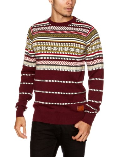 Bench Karibou Men's Jumper Burgundy X-Large