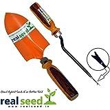 Real Seed 36 Cm Garden Planting Trowel + Weeder Cas Garden Tool Kit (Combo Pack)