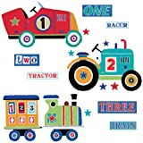 Roommates Transportation Giant Peel And Stick Wall Decals, Multi Color