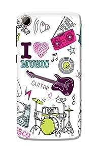 HTC Desire 828 Back Cover, Premium Quality Designer Printed 3D Lightweight Slim Matte Finish Hard Case Back Cover for HTC Desire 828 by Tamah
