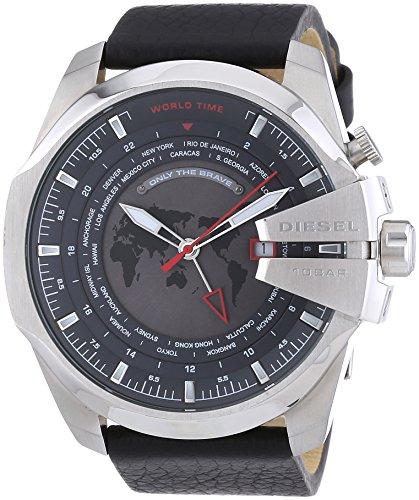 diesel herren armbanduhr xl chronograph quarz leder dz4320. Black Bedroom Furniture Sets. Home Design Ideas