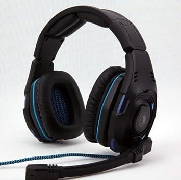 sades casque de de jeu usb sound track surround 7 1 avec micro micro pour pc led bleu high. Black Bedroom Furniture Sets. Home Design Ideas