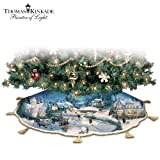 51X3 ckR9dL. SL160  Thomas Kinkade Holidays To Remember Illuminated Tree Skirt: Christmas Tree Decor by The Bradford Exchange
