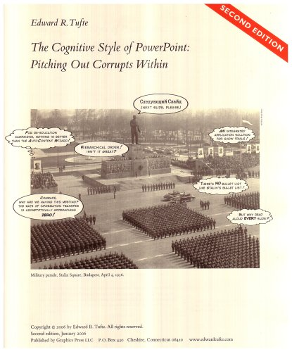 The Cognitive Style of PowerPoint: Pitching Out Corrupts...