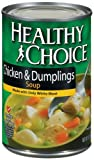 51X30IODQSL. SL160  Healthy Choice Chicken &amp; Dumplings Soup, 15 Ounce Cans (Pack of 12)