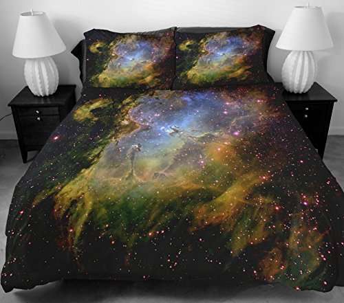Anlye The Gifts For Boyfriend Gray Green Star Bedding Sets 2 Sides Printing Design Style Of The Brown Out Space Duvet Covers With 2 Pillow Cases Twin front-753540