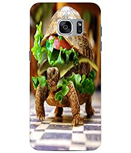 Case Cover Tortoise Printed Yellow Soft Back Cover For Samsung Galaxy S7 EDGE