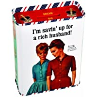 Toy / Game Blue Q Tin Bank Richhusband With Cool Bank Slot And Release A Revolutionary New Way To Save!