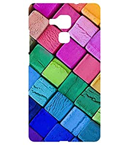 Chiraiyaa Designer Printed Premium Back Cover Case for Huawei Honor 5C (blocks colorful) (Multicolor)