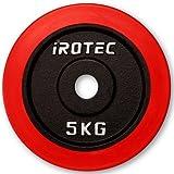 IROTEC(アイロテック) ラバープレート5KG / バーベル ダンベル兼用
