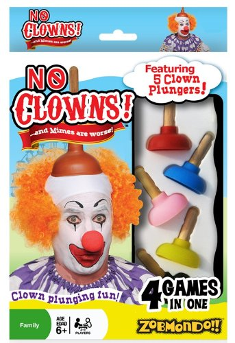 No Clowns Plunger Card Game