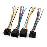 Vehicles Stereo Male Female Plug Wiring Harness 4 Pcs for Volkswagen