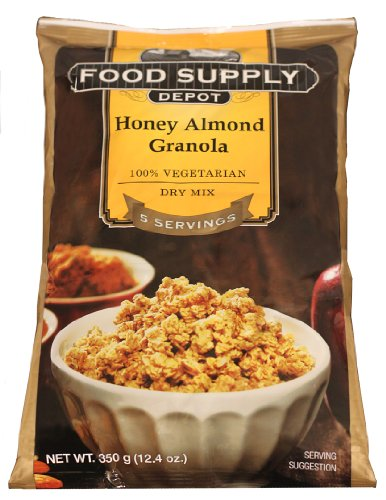 Stansport Food Supply Depot Honey Almond Granola Bucket, 20-Count