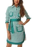 Almatrichi Vestido Camisero Azure (Verde)
