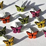 Eyelet Outlet Shape Brads-Mini Butterfly 12/Pkg