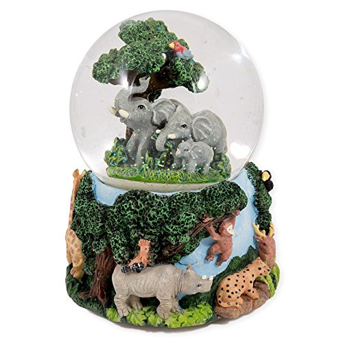 Elephants and Safari Animals Snowglobe