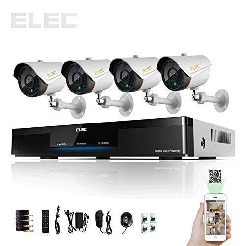 ELEC DVR Security Cameras Systems 960H HDMI 4 Day Night CCTV ...