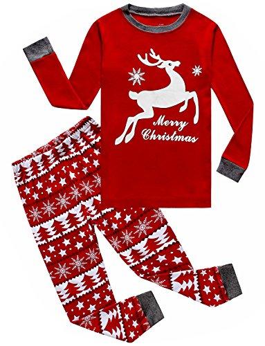 IF Pajamas Christmas Baby Girls Pjs 100% Cotton Long Sleeve Newborn Pajamas Sets Size Red 6-12 Months