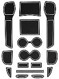 ニッサン T32 エクストレイル 専用設計 ゴム ラバー ポケットマット グロー 夜光 ホワイト 15点セット 傷 異音防止
