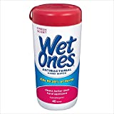 Wet Ones Fresh Scent Anti-Bacterial Wipes, 5-Canister 40 Wipes