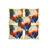 Rajrang Multi Color Cotton Digital Printed Cushion Cover Set Of 5 Pcs #Ccs05830