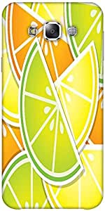Snoogg citrus wedge background card in vector format Hard Back Case Cover Shield ForSamsung Galaxy E5