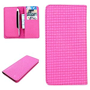 DooDa PU Leather Case Cover For Karbonn S9 Titanium (Pink)
