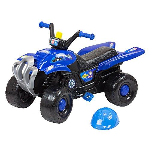 Quad, vélo à pédale, véhicule, bolide en bleu