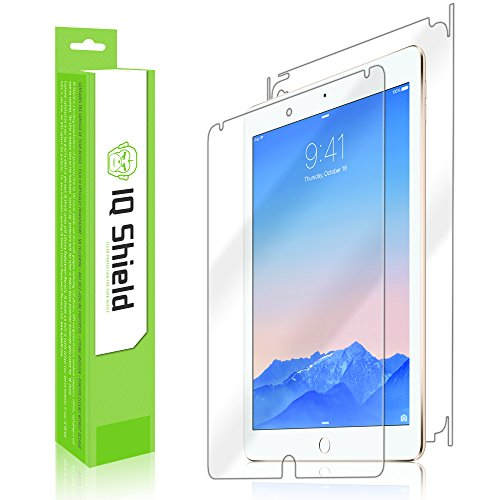 Iq Shield Liquidskin - Apple Ipad Air 2 Screen Protector + Full Body (Front & Back) With Lifetime Replacement Warranty - High Definition (Hd) Ultra Clear Smart Film - Premium Protective Screen Guard - Extremely Smooth / Self-Healing / Bubble-Free Shield - front-655490