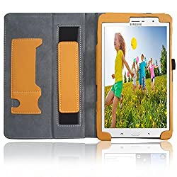 Aerb® X Pro Series Samsung Galaxy Tab Pro 8.4 Leather Case Cover Stand W Sleep Wake Function (for Galaxy Tab Pro 8.4, Yellow Style A)