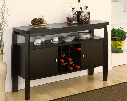 Table With Wine Storage front-24924