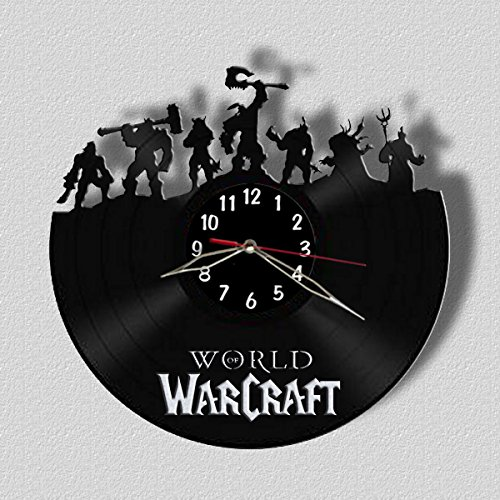 World of Warcraft Wall Clock Vinyl Record